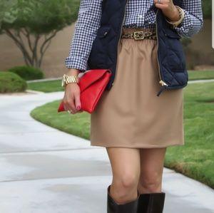 J. Crew Brown Elastic Waist Mini Skirt